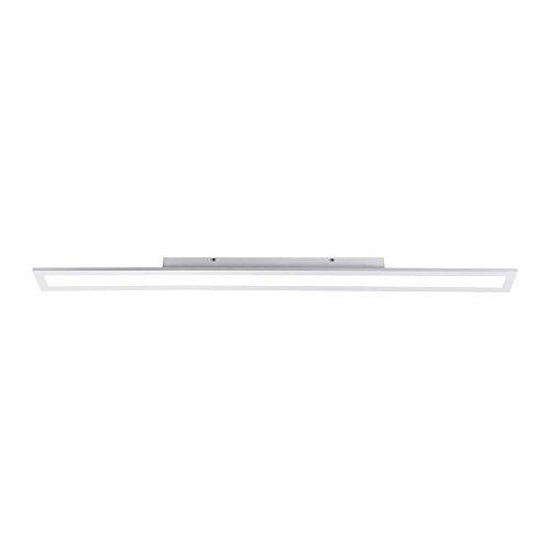 LED Panel, 120x10, dimmbare Decken-Lampe | Helligkeit mit Tronic-Dimmer einstellbar, kaltweiss/neutralweiß, 400 Kelvin | Decken-Leuchte für Büro, Wohnzimmer, Küche und Bad [Energieklasse A+]