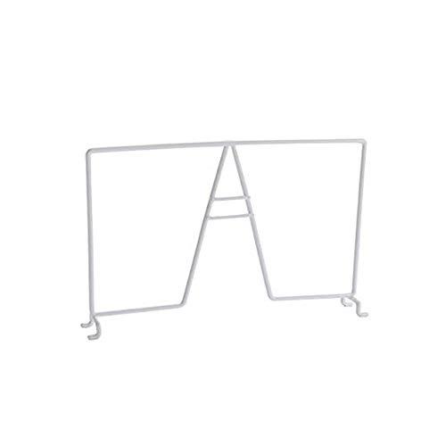 TitanSecure - Juego de 4 separadores de estantes de alambre blanco de 7 pulgadas de altura para armarios, modelo corto para zapatos, sombreros, bolsos