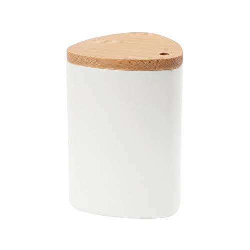 TOPBATHY 1 STÜCK PP Zahnstocher Halter/Zahnstocherspender mit Bambus Deckel, Zahnstocher Fall Speicherorganisator Container Dekoration für Küche Restaurant Hotel