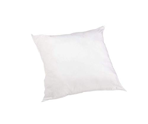 Perfect Fit 180 Thread-Count Cotton Euro Square Pillow, White, 26' x 26'