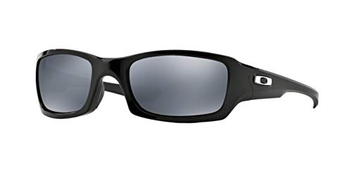 Oakley Fives Squared, OO9238 (06) Polished Black/Black Iridium Polarized 54mm, Sunglasses Bundle with original case, and accessories (5 items)