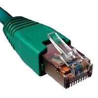 Telegärtner F-STP LSZH - Cable de RJ45 (cat. 7, 1 m) color verde