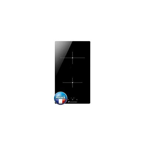 Continental Edison cecp102rp2 - Table de Cuisson vitrocéramique - 2 Zones - 3000 w - l 29 x p 52 cm - Revetement Verre - Noir