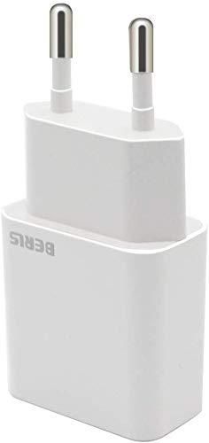 BERLS Caricatore USB, Adattatore Universale da Muro USB 1 Porta (5V 2000mA) per Samsung Galaxy S7 S8 S9, Phone 5,6,7,8, X,XS Max,11,11Pro,Wiko, iPad, LG, HTC, Huawei, Xiaomi, ASUS, Nexus (Bianco)