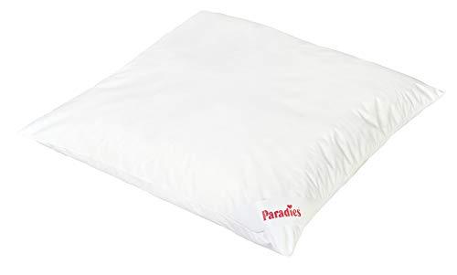 PARADIES Kissen 80x80 cm Softy Antiallergo - Kopfkissen, Öko-Tex Zertifiziert Standard 100 Klasse 1, medizinisch getestet, das Hausstaubmilben-Allergiker Schlafkissen