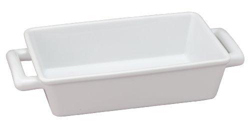 HIC Oblong pirofila rettangolare per arrosti singoli Lasagna pan, fine porcellana bianca, 21,6cm x 14cm x 6,3cm by HIC Harold Import Co.