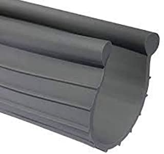 Garage Door Weather Seal - Bottom Seal Bead Type - Grey Vinyl (18')