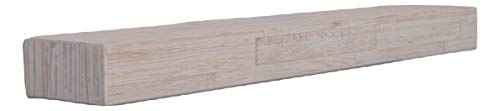 mywoodwall Holz Regal Dekokamin Kaminsims Weiß 120 cm einfache Selbstmontage Vintage Shabby Chick Look Wohnzimmer (Antik-Weiß)