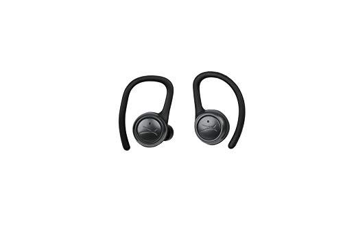 Altec Lansing True Evo Sport Truly Wireless Earphones, 6 Hours of Battery Life, Weatherproof Design, Includes Wireless Charging Case, Black (MZX758-BLK-AMZ)