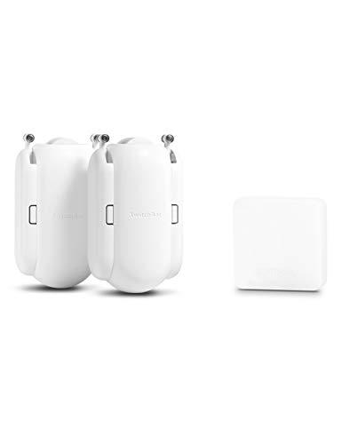 「Compatible with Alexa認定」SwitchBot スイッチボット スマート家電リモコン スマートカーテン2個セット – Alexa グーグルホーム IFTTT イフト Siriに対応 (1 Hub Mini + 2 スマートカーテン)