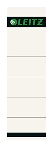 Leitz Ersatz-Rückenschilder für 80 mm Qualitäts-Ordner mit Rückenschild-Taschen, 10 Stück aus Karton, Kurz und breit, 57 x 190 mm, grau, 16070085