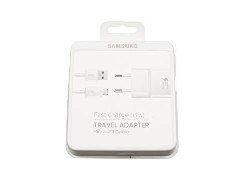 SAMSUNG Galaxy Tab S2 9.7 LTE (SM-T819) Original Micro USB Netzteil 15 Watt EU Wallplug weiß inkl. Ladekabel schnellladen