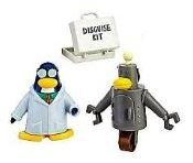 VALUE DEAL SAVE $8.00 on RARE - Disney Club Penguin Gary the Gadget Guy, RARE Robot + RARE Disguise Kit - Vinyl Mini Figures - Highly Collctible - VALUE DEAL = Just the RARE Collectibles without Coin or Code - SAVE $8.00