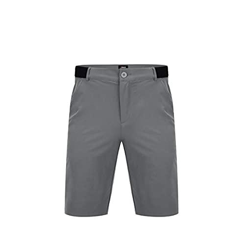 LGQ Herren Polyester Golf Shorts Sonnenschutz Stretch Golf Short Schnelltrocknen Mehltau Proof Golf Cargo Shorts,Grau,2XL