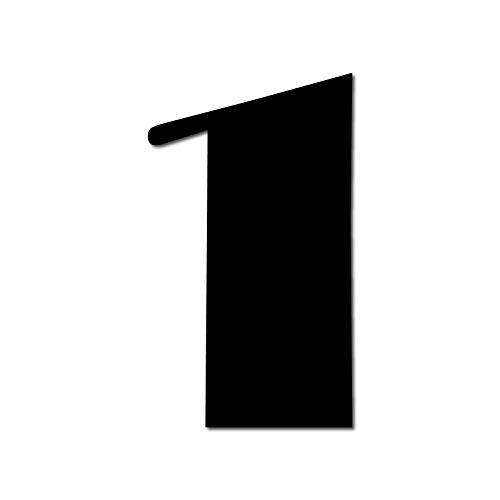 Floating HOUSE NUMBER 'Broadway' 1   3 Sizes (15cm/5,9'', 20cm/7,8'', 25cm/9,8'')   incl. hidden fixings & instructions   modern look   easy to fit, Colour:Black, Size:20cm / 7.9' / 200mm