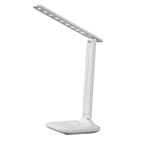 FLAMEER Lámpara de Escritorio LED, luz Regulable Que cuida los Ojos para Leer en la Cama/Trabajo artístico/mesita de Noche, Brillo de 3 Luces - Plug-in
