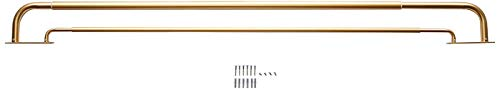 MERIVILLE Double Wraparound Blackout Curtain Rod Set - 1-inch Diameter Front Rod and 5/8-inch Diameter Back Rod, 28-48 Inch Adjustable, Royal Gold Finish