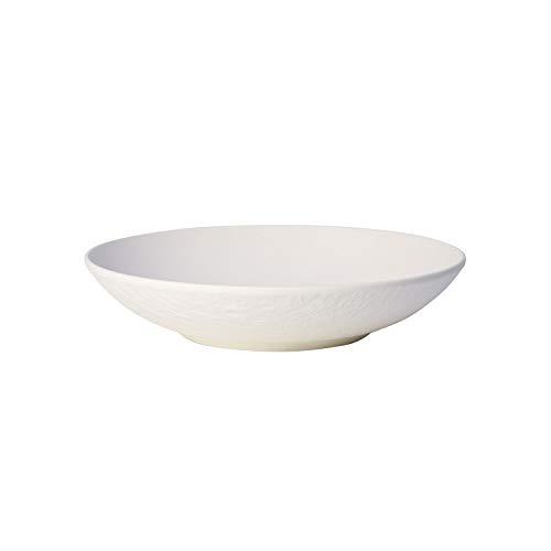 Villeroy & Boch Manufacture Rock Blanc Coupelle plate (23,5 cm), Porcelaine Premium, Blanc