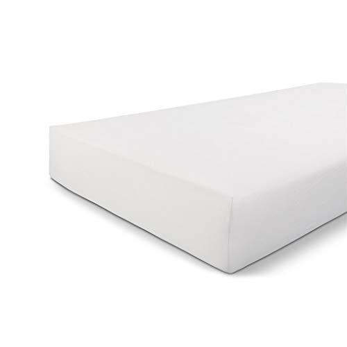 Byrklund Spannbettlaken 80x200, Jersey Spannbetttuch, Perfekte Matratzenpassform, Weiches Gefühl, Knitter- & Bügelfrei, 100% Baumwolle - Weiß