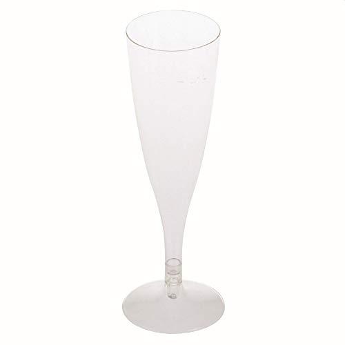 1-PACK BIO Sektglas klar 2-teilig 100 ml Ø5,3x15+3 cm aus Biokunststoff (PLA), 27 Stück