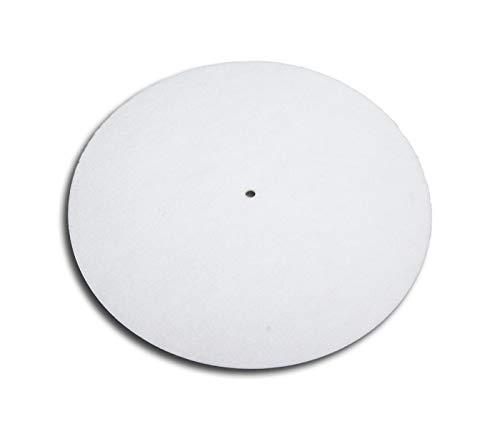 Platten Slipmat van vilt wit protected