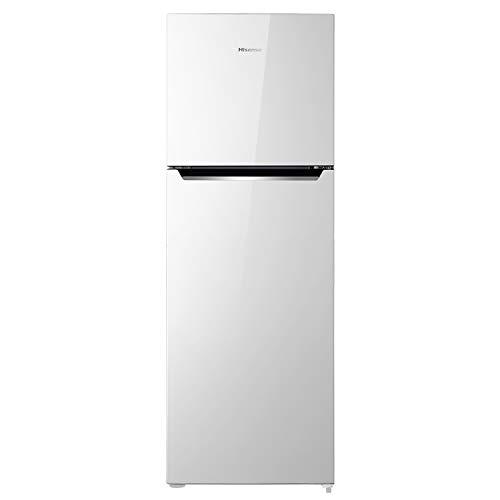 Hisense RT326N4DW1 Kühlschrank mit zwei Türen, ohne Frost, Energieklasse A+, weiß, Fassungsvermögen 251 l, integrierter Griff, wendbare Türen, 4-Sterne-Gefrierschrank, leise 42 dB
