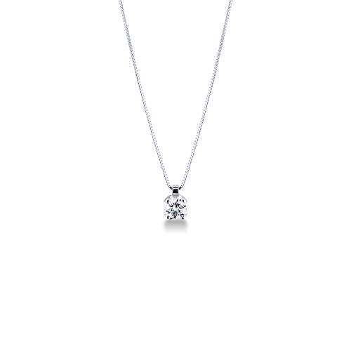 Gioielli di Valenza - Collana Punto Luce in Oro Bianco 18k con Diamante 0,50 carati - PU05050BB