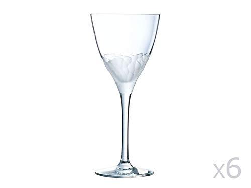 Cristal d'Arques L6726 Verre à Pied en cristallin 21cl - Lot de 6 Intuition, Transparent, 21 cl