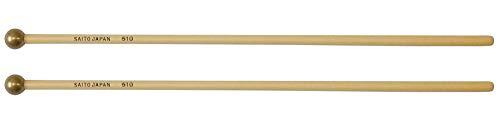 サイトウ Saito シロフォン・グロッケン専用マレット ハイハード 【No.510】 真鍮ヘッド 長さ:37cm