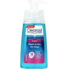 Clearasil Ultra (Pack de 2) rápida acción Gel Wash 12horas 150ml