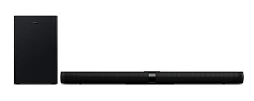 TCL TS7010 Soundbar (92 cm) TV Soundbar con subwoofer (Bluetooth Soundbar, 2.1-Channel-Sound, 160 Watt, HDMI ARC, Dolby Digital, AUX 3,5 mm Line Input, telecomando) Nero
