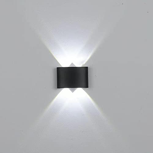 Lámparas de pared LED, Lámparas de pared modernas, Lámpara de noche con luz puntual impermeable para sala de estar, dormitorio, pasillo, baño, LED de larga duración que ahorra energía, 4 W / 6 W / 8 W