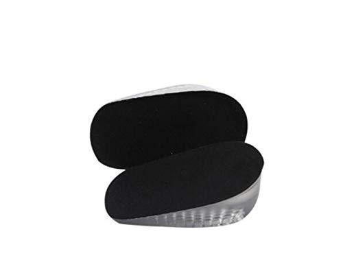 1 paar Unisex Gel erhöht Einlegesohle Halb einlegesohle erhöhung, Pads Fersenstütze Höhe Schuhe Unsichtbar Silikon Dämpfung 1-3 CM EU 35-45 Für Männer Frauen Alltag Beruf (3 CM, Schwarz-Herren)