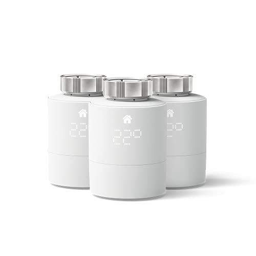 tado° Cabezal Termostático Inteligente, 3-Pack – Accesorio para control de habitaciones múltiples, control de calefacción inteligente, Instálalo tú mismo