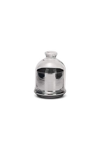 SWEET HOME glaslåda, med lock, silverfärgad baskod.SB00870LU cm 12,5 h diam.10 av Varotto & Co.