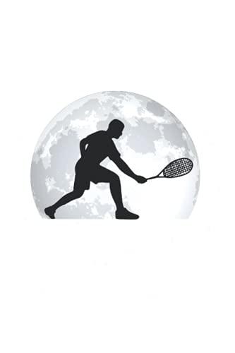 Tennis Notizbuch: Tennis Mond Tennisschläger Tennisspieler / 6x9 Zoll / 120 gepunktete Seiten Seiten