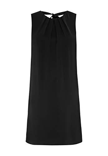 HALLHUBER Minikleid mit Faltendetails und Schluppe gerade geschnitten schwarz, 36