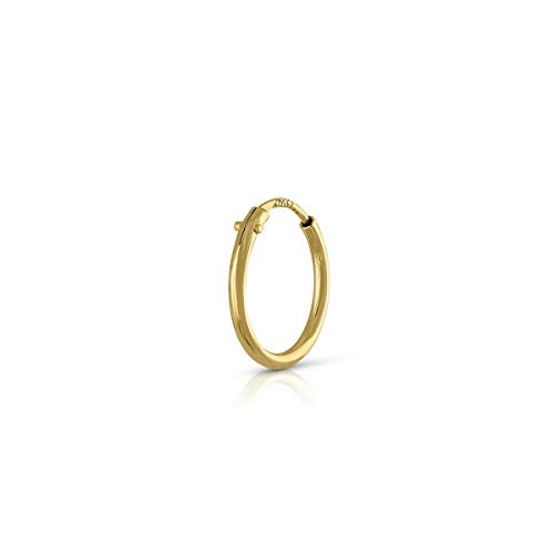 Piercing Oro de Ley Certificado. Mujer. Piercing Aro de 8 mm tubo 1.mm (1-5115-8)