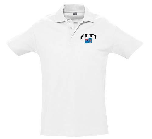 Supportershop Unisex Fiji Biała koszulka polo, unisex_dorośli, 5060672805933, biała, XL