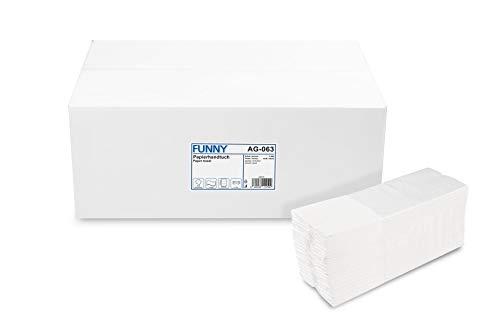 Funny Papierhandtuch, C-Falz, 23 x 31 cm, 2lag, Recycling weiß, 2880 Blatt, 1er Pack (1 x 1 Stück)