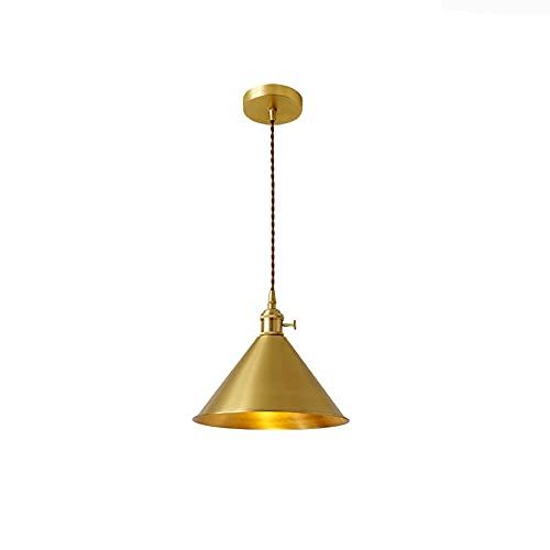 NAMFXH Lámpara de araña de Estilo nórdico Lámpara de suspensión Simple de Estilo japonés Lámpara Colgante de Cobre E27 Fuente de luz Luminaria Lámpara de Techo Colgante Creativa Iluminación Interior