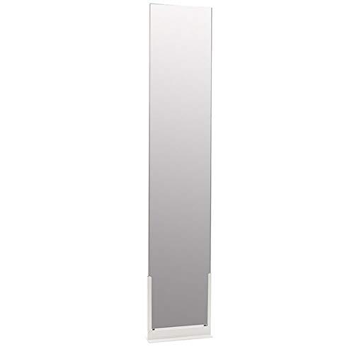 どこでもミラー TATTA スタンドミラー ホワイト 鏡 姿見 自立式 壁掛け ミラー おしゃれ ロング 玄関 全身鏡 スリム 全身ミラー 壁面ミラー シンプル 一人暮らし 立てかけ 日本製 コンパクトフィルムミラー 新生活 割れない鏡 180cm 大型ミラー モダン 高級感 (ホワイト)