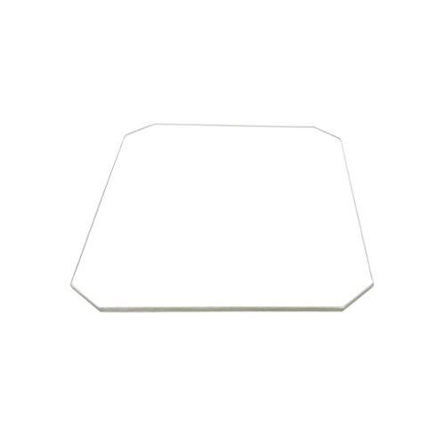 Placa de cristal de borosilicato de 130 mm x 160 mm x 3 mm para impresoras 3D, cristal perfectamente plano con bordes pulidos.