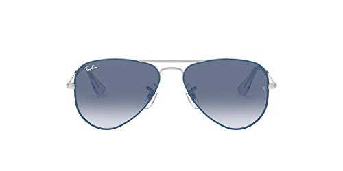 Ray-Ban JUNIOR 0RJ9506S Gafas de sol, Silver On Top Light Blue, 50 Unisex