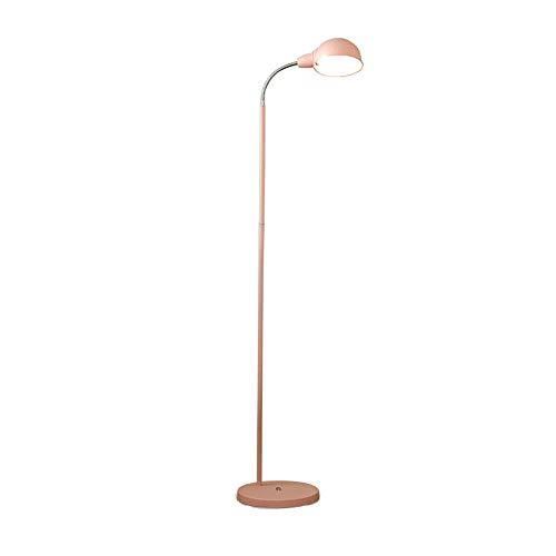 ZRABCD LED-Stehleuchte, moderne Stehleuchte mit flexiblem Schwanenhals, 3 Farbtemperaturen, Pedalschalter, E14-Buchse, max. 60W, Metall-Stehlampe für Wohnzimmer, Schlafzimmer, Büro,Rosa