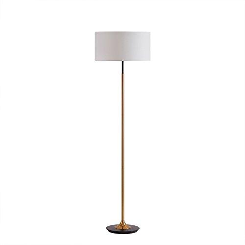 Tyannan Modern Control de atenuación Lámparas de pie Lámparas nórdico minimalista piso dormitorio tejido de lino Pantallas de iluminación Lámparas de pie de estar Sala de Estudio
