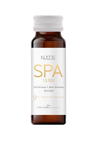 Nucos Spa Drinking Collagen  whitening & Skin therapy 13,500mg Collagen  skin lightening, anti-aging, antioxidant, acne scar remover for women  set of 10 bottles made in Japan
