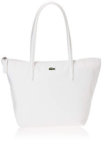 Lacoste Nf2037po L.12.12 Concept, Bolso Bandolera para Mujer, Blanco (Bright White), 14.5x24.5x24.5 centimeters (W x H x L)