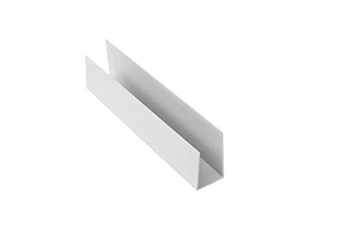 Crownwall J-Trim Piece 8 ft. (96-in) - Dove Grey