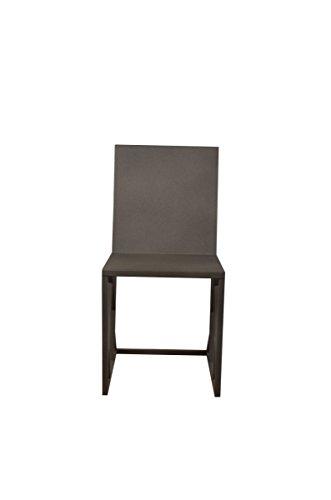 EMPIRICA 2Paar Dark Grau Metallic Penta Stühle